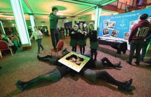 Repro FREE - Repro Free - mannequin challenge Students Barra O'Siochru Katie Tobinand Laura Hynes from the Gael Cholaiste Tralee and class mates hold the pose while taking part in the mannequin challenge with 250 other students in the INEC Killarney . NATIONAL TOURISM CAREERS ROADSHOW Over 250 students from schools across the south west gathered at the INEC, Killarney, Co Kerry today (8th February 2017) for a Tourism & Hospitality Careers Roadshow where they got a flavour of the wide variety of careers available in the tourism and hospitality industry Photo By Domnick Walsh © Eye Focus LTD - www.dwalshphoto.ie Tralee Co Kerry Ireland Mobile Phone : 00353 87 26 72 033 Land Line : 00 353 66 71 22 981 E/mail : info@dwalshphoto.ie WEB Site : www.dwalshphoto.ie PRESS INFO -- NATIONAL TOURISM CAREERS ROADSHOW Over 250 students from schools across the south west gathered at the INEC, Killarney, Co Kerry today (8th February 2017) for a Tourism & Hospitality Careers Roadshow where they got a flavour of the wide variety of careers available in the tourism and hospitality industry and the various career paths they can take to get started. Organised by the Irish Hotels Federation (IHF) in association with the Irish Hospitality Institute (IHI), IT Tralee, Cork IT and Regional Skills, the initiative is part of the industry-led careers programme launched last year for 15-18 year olds. The Tourism & Hospitality Careers Roadshow in Killarney was the first in a series of events planned for across the country over the coming months. It was run in close collaboration with local tourism and hospitality businesses, many of whom were present to give the students a personal insight into training and working in the sector. Meanwhile students and lecturers from IT Tralee and Cork IT were also on hand to talk about the various tourism and hospitality courses that are available. The students and their Guidance Counsellors received copies of Get a Life in Tourism, the IHF's free